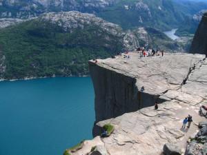 Preikestolen – Skalní kazatelna v Norsku