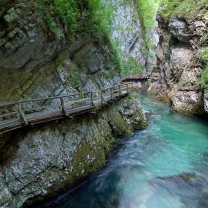 Soutěska Vintgar u jezera Bled – Slovinsko